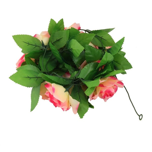 Wedding Plastic Hanging Decoration Artificial Emulational Flower Vine Fuchsia