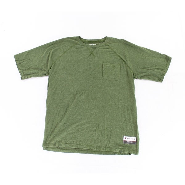 d3e5e59b Shop Champion Green Mens Size XL Crewneck Pocket Graphic Tee T-Shirt - On  Sale - Free Shipping On Orders Over $45 - Overstock - 27788361
