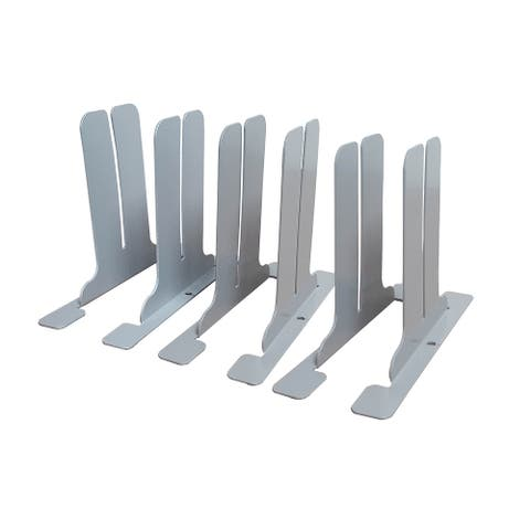 Offex Office Desk Partition Antimicrobial Brackets ONLY for DIY a Sneeze Guard Protection Shield - 1 Pack (3 Sets Per Pack)