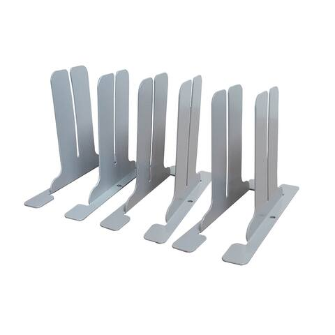 Post Pandemic Partitions Freestanding Antimicrobial Brackets to DIY a Sneeze Guard Protection Shield - 1 Pack (3 Sets Per Pack)