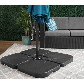 Link to Hilford Cantilever 4-piece Heavy Duty Fillable Umbrella Weighted Base Similar Items in Patio Umbrellas & Shades