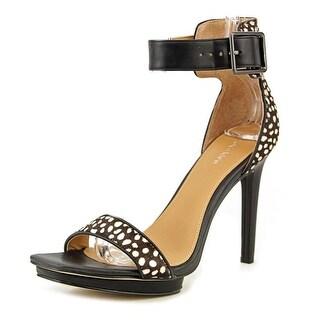Calvin Klein Vable Open Toe Suede Platform Sandal