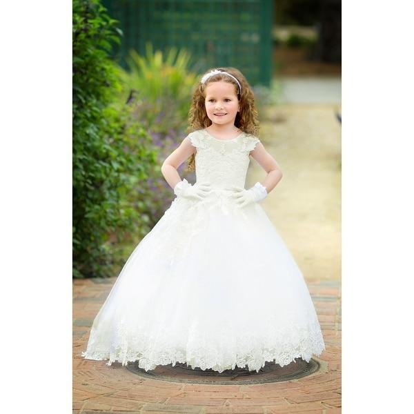 62f5de46147cd Shop Triumph Dress Girls White Lace Asymmetrical Milena Flower Girl ...