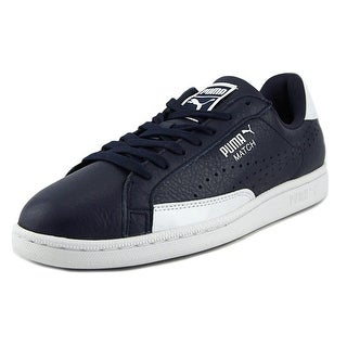 Puma Match TL Patent Men Round Toe Leather Blue Tennis Shoe