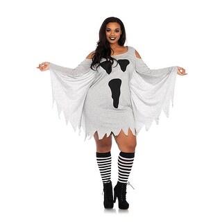 Women's Plus-Size Jersey Ghost Dress Costume - Grey