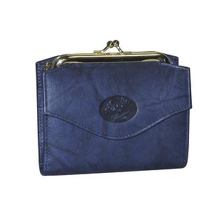 Buxton Heiress French Purse Wallet (Navy)