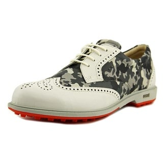 Ecco Classic Golf Hybrid Women Round Toe Leather Golf Shoe