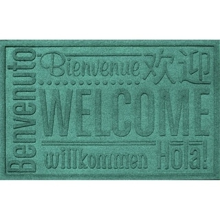 20356630023 Water Guard World Wide Welcome Mat in Aquamarine - 2 ft. x 3 ft.