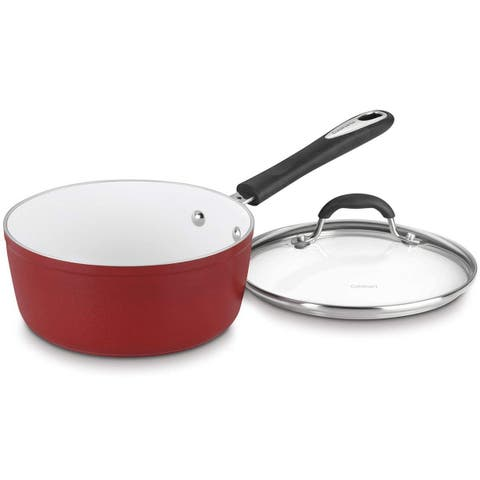 Cuisinart 5919-18R Elements Saucepan with Cover, 2-Quart, Red