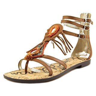 Sam Edelman Genesee Women Open Toe Leather Brown Gladiator Sandal