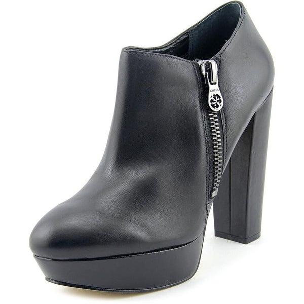 Guess Paprikaa Round Toe Leather Bootie