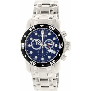 Link to Invicta Men's Pro Diver0 Silver Stainless-Steel Plated Dress Watch Similar Items in Men's Watches