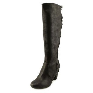 Report Marisa Women  Round Toe Synthetic Black Knee High Boot