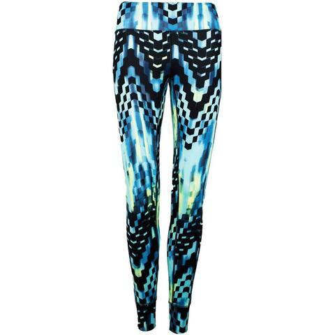 ASICS Printed Tight Womens Athletic Leggings - Blue