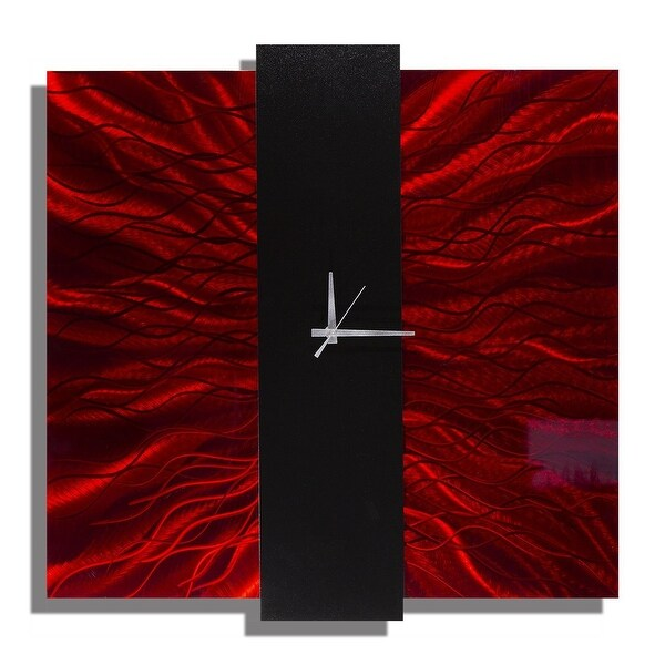 Statements2000 Red / Black Metal Wall Clock by Jon Allen - Lavish Mechanism