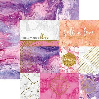 """Marbleous Double-Sided Cardstock 12""""X12""""-Follow Your Bliss"""