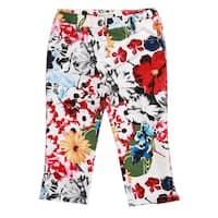 Richie House Girls' Bright Floral Print Pants