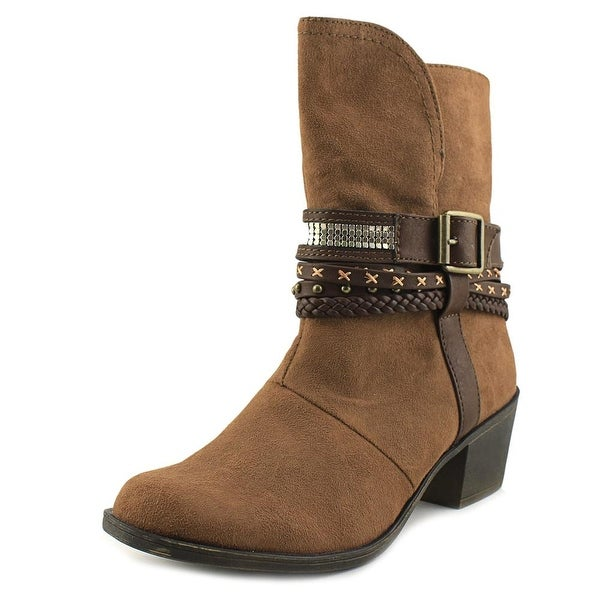 Sugar Trinket Women Round Toe Synthetic Brown Mid Calf Boot