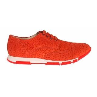 Dolce & Gabbana Sneaker Shoes Orange Leather Sport Casual - 43