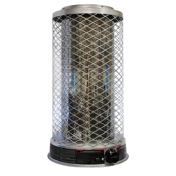 Dyna-Glo Delux RA125LPDGD Portable 125,0000-BTU Propane Powered Radiant Heater, 3,000-Square Foot Heating Area - Silver