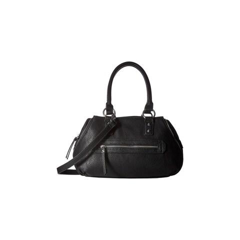 Jessica Simpson Womens Marley Satchel Handbag Faux Leather Convertible - MEDIUM
