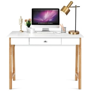 Link to Gymax Computer Desk Laptop PC Writing Table Makeup Vanity Table Similar Items in Desks & Computer Tables
