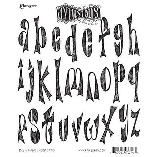"Dyan Reaveley's Dylusions Cling Stamp Collections 8.5""X7""-Dy's Alphabet"
