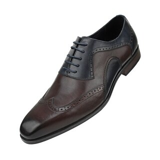 Asher Green Mens Genuine Leather Burnished Oxford