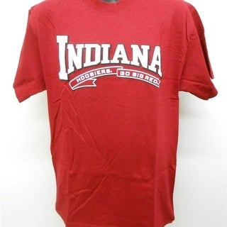 NCAA Indiana Hoosiers Adult Mens Sizes M L XL 2XL Red Shirt