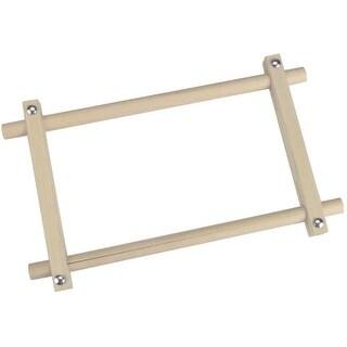 "Deluxe Hardwood Scroll Frame 6""X12""-"