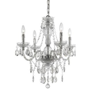"""AF Lighting 8350-4H Elements Naples 23"""" Height 4 Light Mini Chandelier with Clea"""