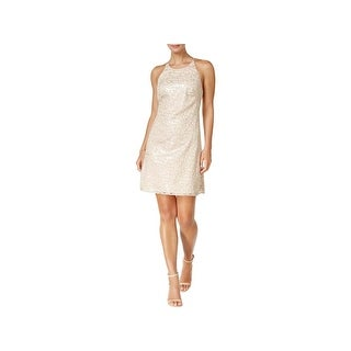 Vince Camuto Womens Slip Dress Sequined Criss-Cross Back