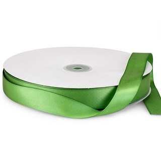 """Pack Of 1, Solid Jungle Green Double Faced Satin Ribbon 7/8"""" X 100 Yds 100% Polyester"""