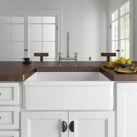 Eridanus 33-inch Apron-Front Farmhouse Kitchen Sink