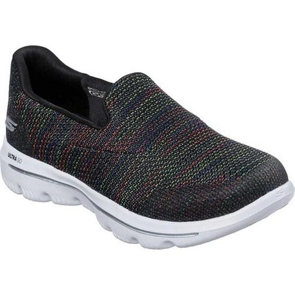 Skechers Women/'s Go Walk Evolution Ultra Mesh Slip On Shoe Black