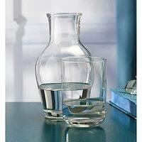 Palais Glass Carafe Set - Bedside Night Carafe with Tumbler Glass Lid (24 Oz)