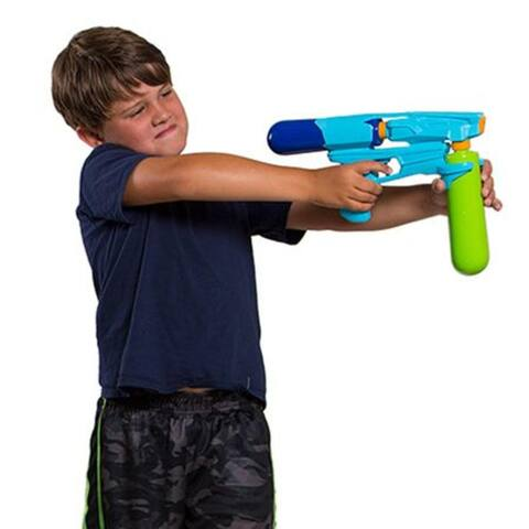 "13"" Lime Green Flood Force Tempest Water Blaster with Extra Ammo Tank - N/A"