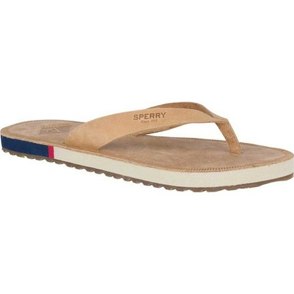 99d99671989a9 Sperry Top-Sider Women's Wharf Leather Thong Sandal Light Peanut  Leather. Click to Zoom