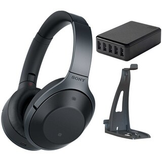 Sony MDR1000X Premium Noise Cancelling, Bluetooth Headphone, Black Bundle