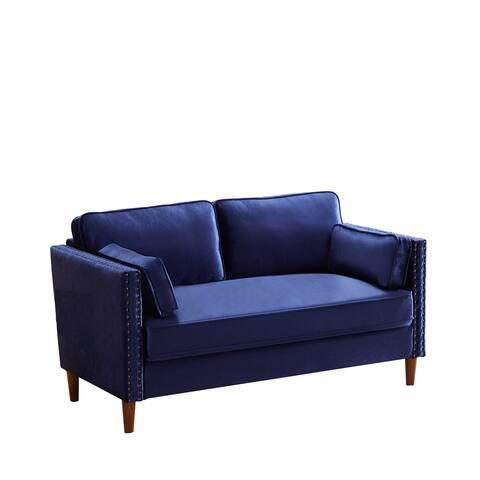 Admore 31.1'' Velvet Square Arm Sofa - 32.7'' H x 31.1'' W x 57.5'' D