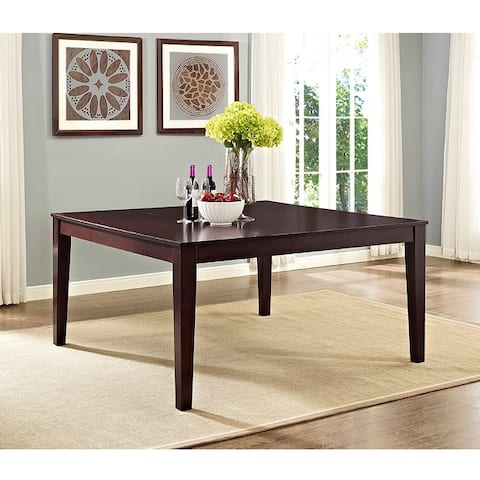 60-inch Square Casual Modern Cappuccino Dining Table