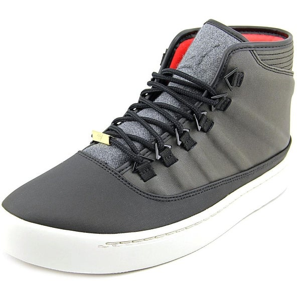 Jordan WestBrook 0 Holiday Men Round Toe Leather Black Sneakers