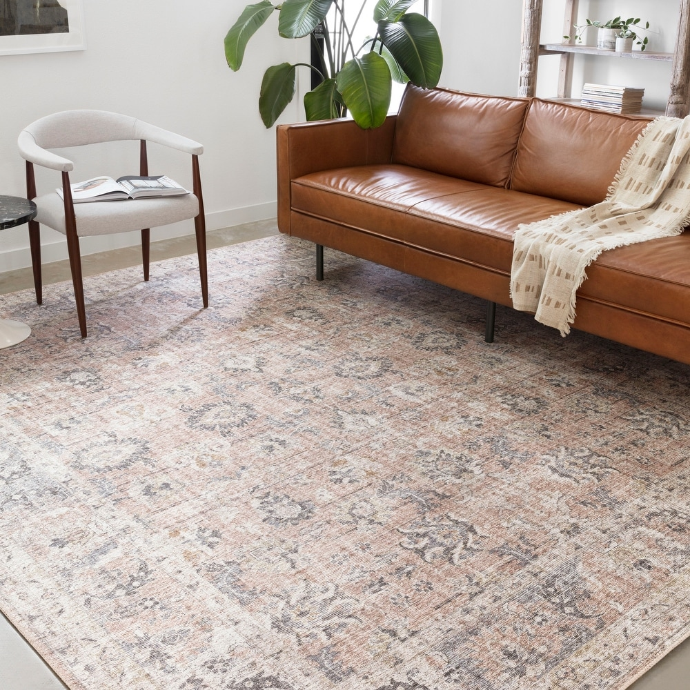 Shop Alexander Home Leanne Traditional Distressed Printed Area Rug from Overstock on Openhaus