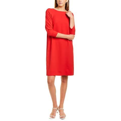 Oscar De La Renta Raglan Silk-Blend Shift Dress