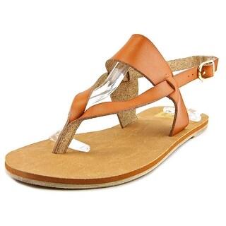 Cape Robbin Alma-FB-10 Women Open Toe Synthetic Brown Thong Sandal
