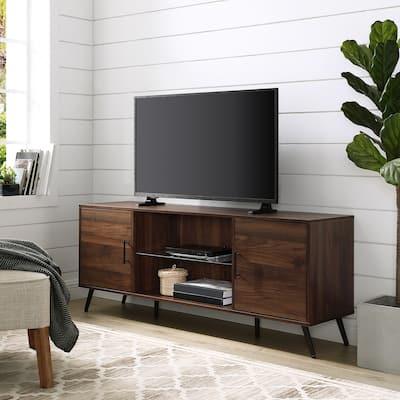 "Carson Carrington Mid Century 60"" 2-Door TV Console"