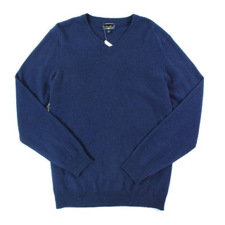 Club Room NEW Navy Blue Mens Size Small S V-Neck Cashmere Sweater