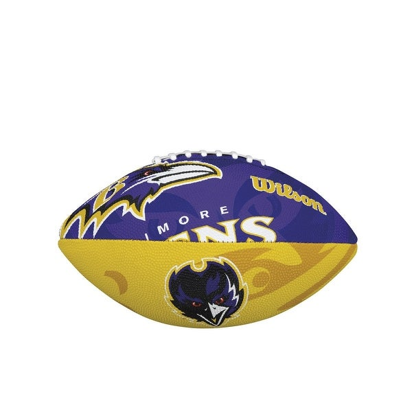 Wilson NFL Junior Team Logo Football (Baltimore Ravens)