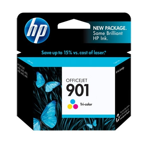 HP 901 Tri-color Original Ink Cartridge (Single Pack) HP 901 Tri-Color Ink Cartridge - Color - Inkjet - 100 Page