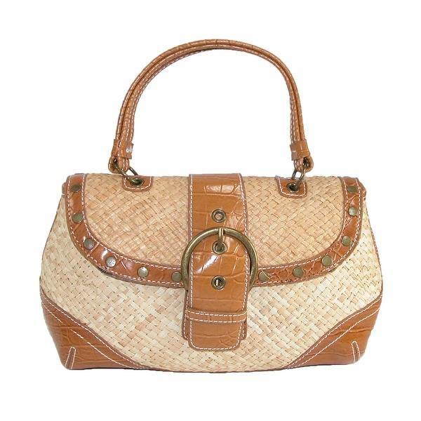 Dynamic Asia Women's Straw Buckle Front Handbag